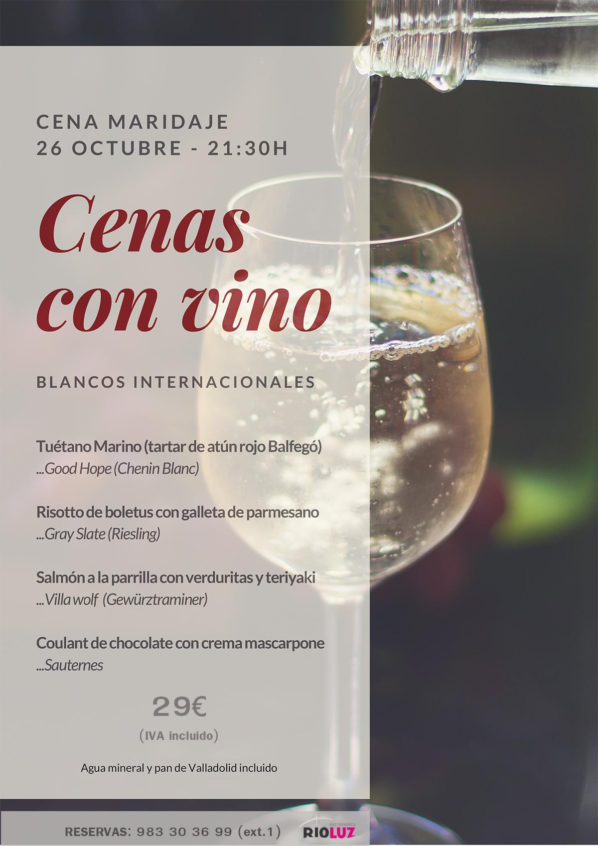 Cenas con vino, blancos internacionales