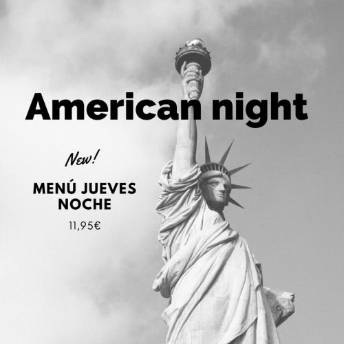 Menú American night, ¡todos los jueves noche!